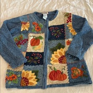 Super fun fall-themed zip up jacket